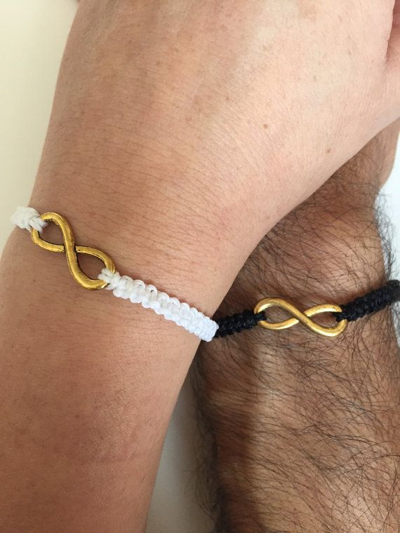 9c8d3768ddde Couples Bracelets 255- friendship macrame love cuff infinity ...