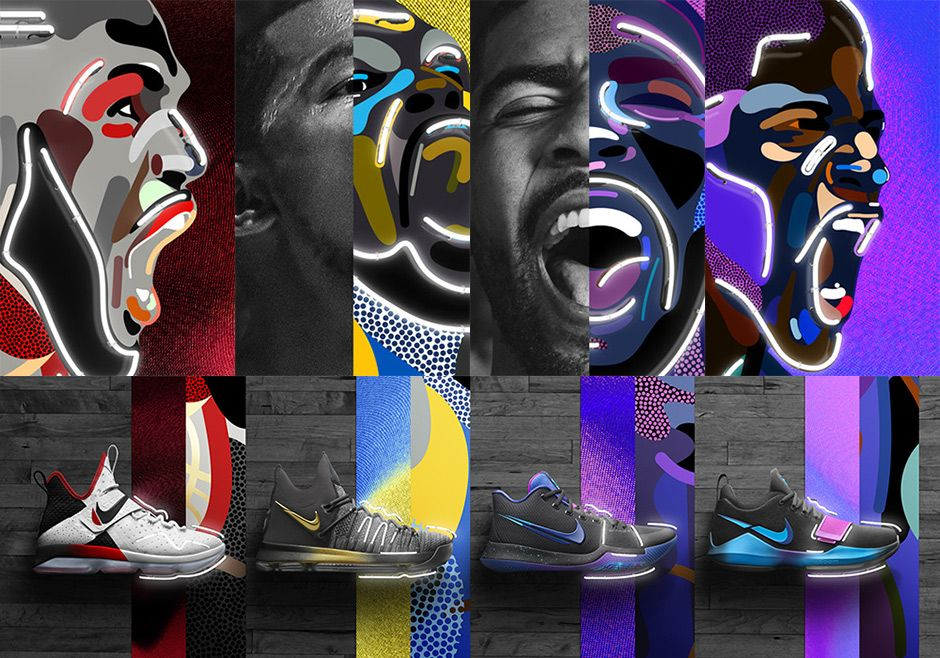 2c7e93ee7c1 Nike Basketball adds some playoff energy for their Flip The Switch  Collection featuring vibrant accents on