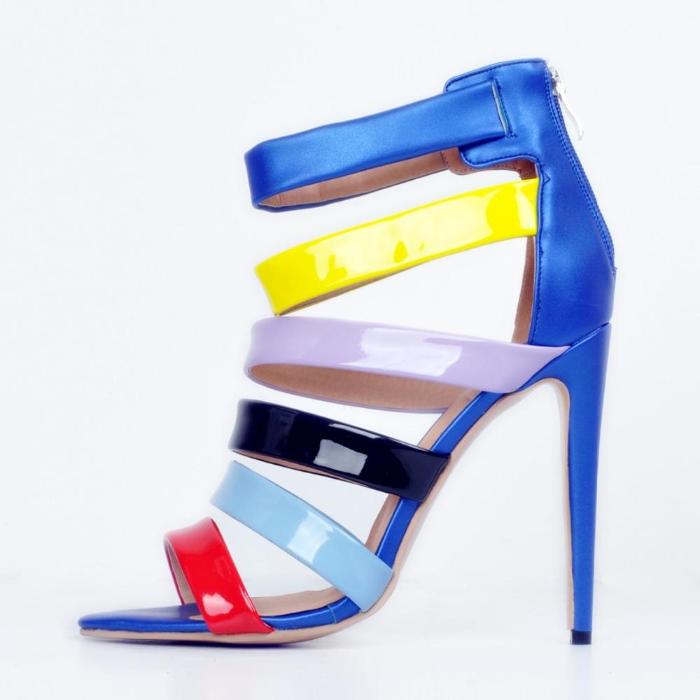 207c8d4da0720 58.47$ Buy now - Super Popular Women Sandals Nice Multicolors Peep Toe Thin  Heels Sandals Fashion Shoes Woman Plus US Size 4-15 #shopstyle