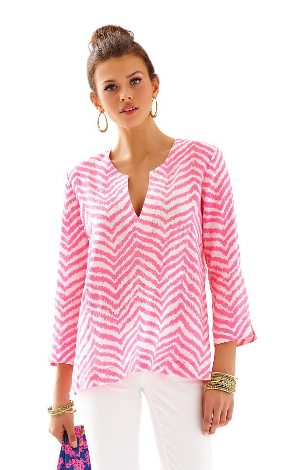 Amelia Island Tunic - Lilly Pulitzer Tropical Pink Zebron