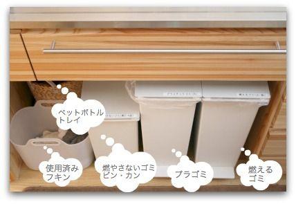 使う場所の近くに使うものを置く Google 検索 インテリア 収納 ゴミ箱 キッチン キッチンアイデア