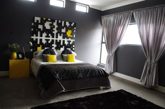 1000 images about Night Club on Pinterest Neon party Nyc and Leeds. Grey Yellow And Black Bedroom