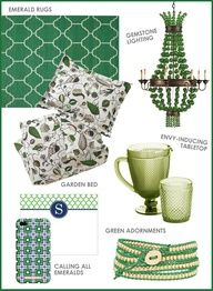 We love the emerald green trends! #coloroftheyear