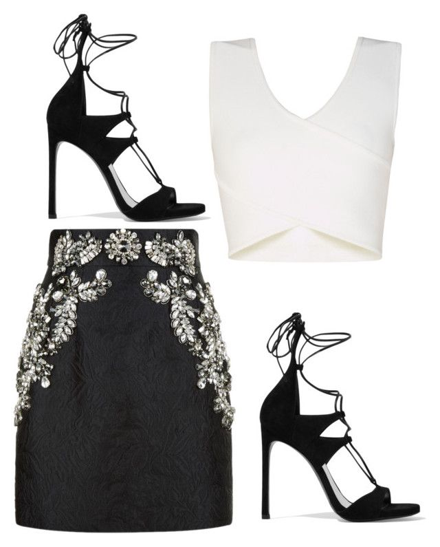 """Untitled #529"" by jesslouise00 ❤ liked on Polyvore featuring BCBGMAXAZRIA, Dolce&Gabbana and Stuart Weitzman"