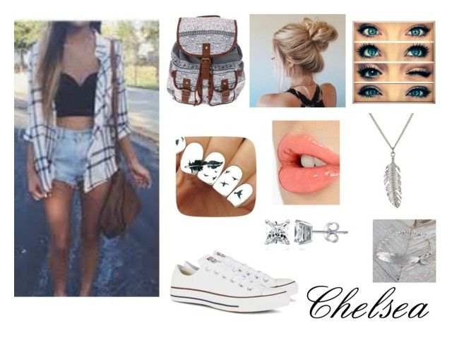 """""""Untitled #62"""" by emmapage1403 ❤ liked on Polyvore featuring Converse, Charlotte Tilbury, Delicates by Paloma & Ellie, BERRICLE and Gama"""