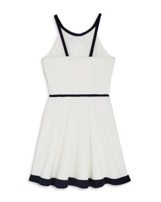 Sally Miller Girls' The Newport Fit-and-Flare Dress - Big Kid - Ivory #sallymiller