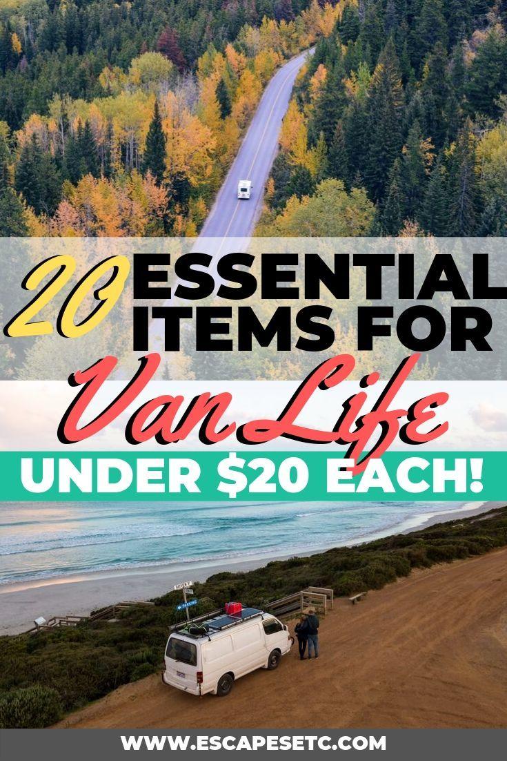 20 Budget Campervan Packing List Essentials under $20 | Escapes Etc |