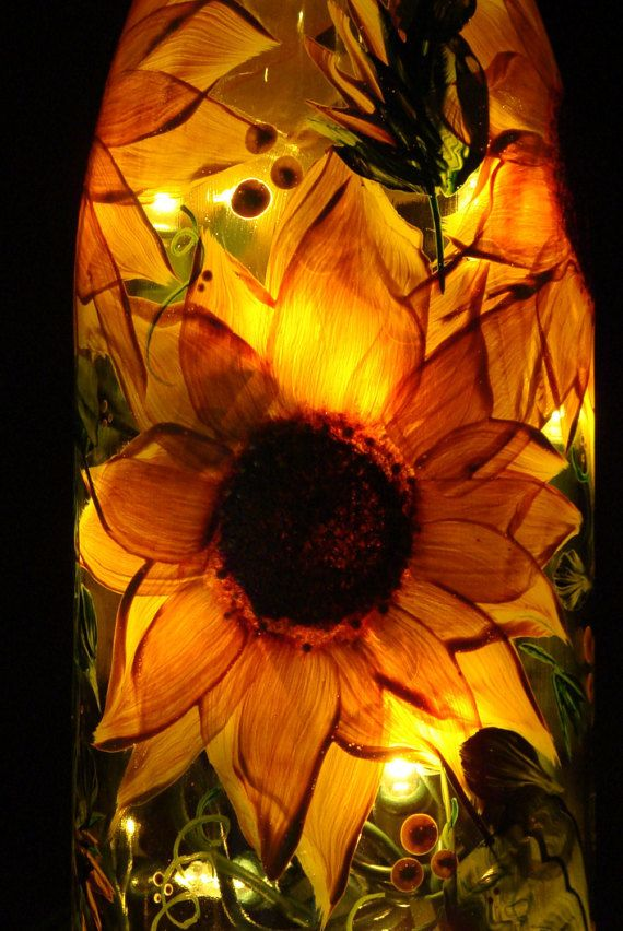 Bottle of Light Sunny Sunflower by BottleofLight on Etsy