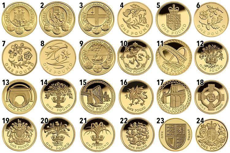 One Pound Coin Value Chart Geo Health