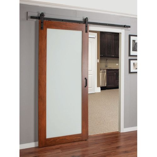 Continental Glass Barn Door With Installation Hardware Kit Glass Barn Doors Wood Doors Interior Barn Doors Sliding