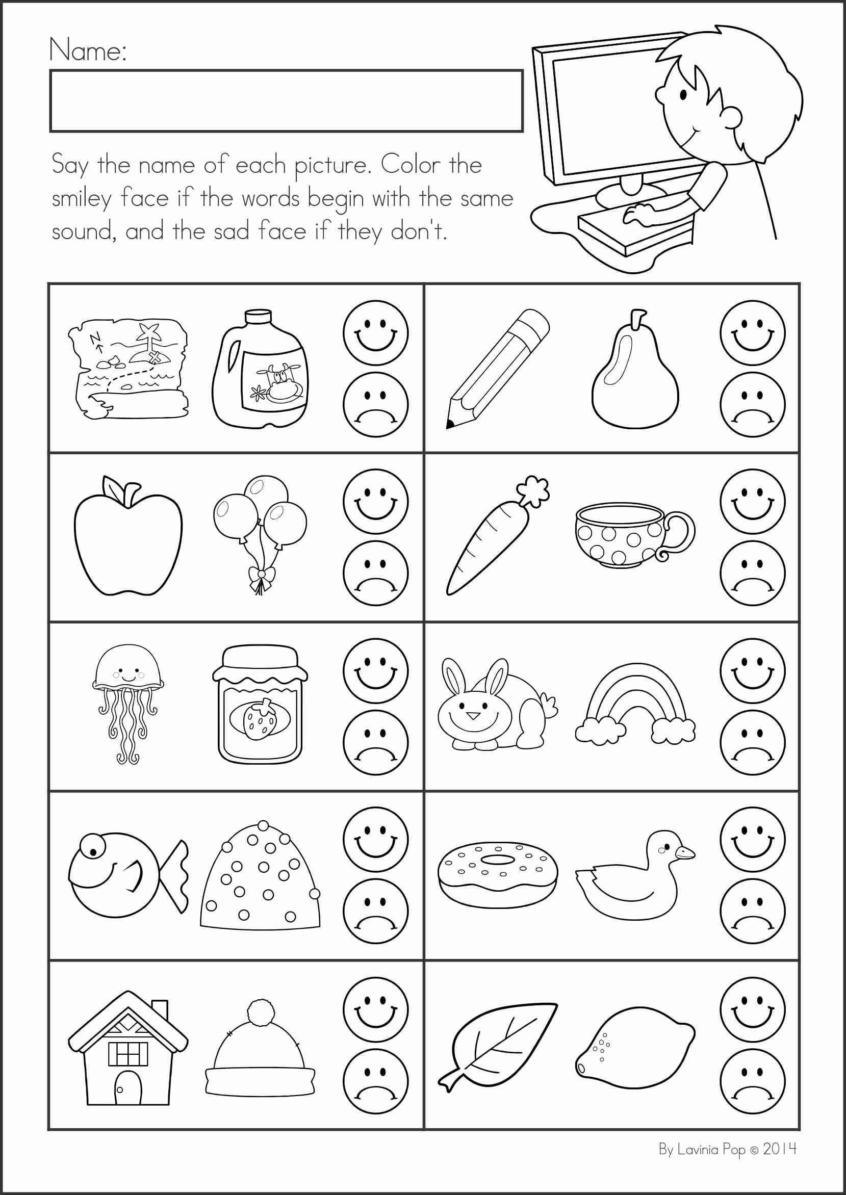 Back To School Printable Worksheets For Kindergarten