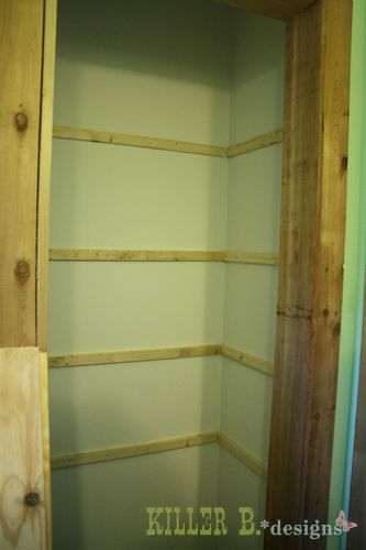 Closet Shelving How-To. I want to use leftover wall paint for the ...