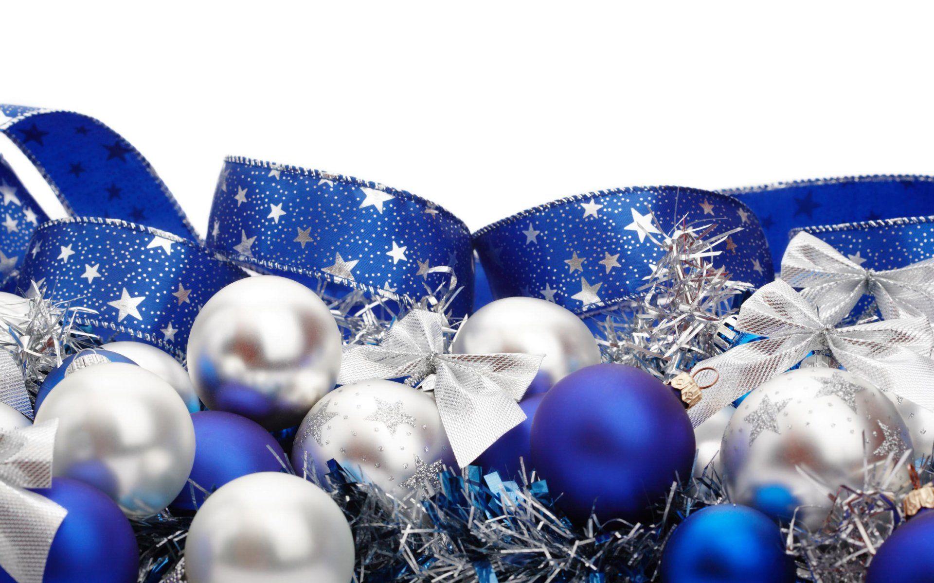 Blue Silver Christmas Decorations Dekorasi Natal Pohon Natal Natal