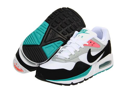 green black and white nike air max