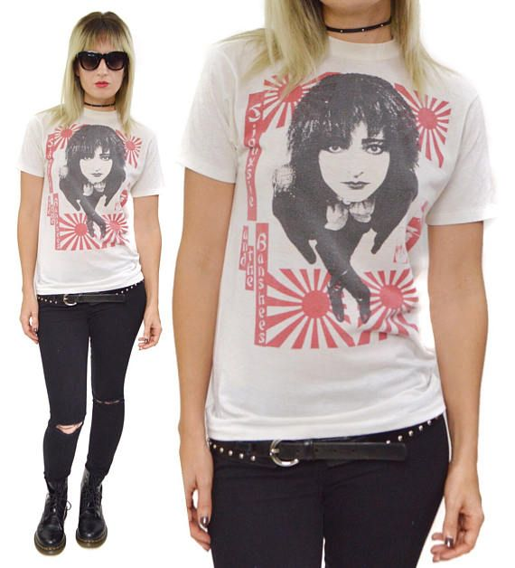 Vintage 80s Siouxsie And The Banshees Hong Kong Garden Goth T Dope T Shirts Pinterest