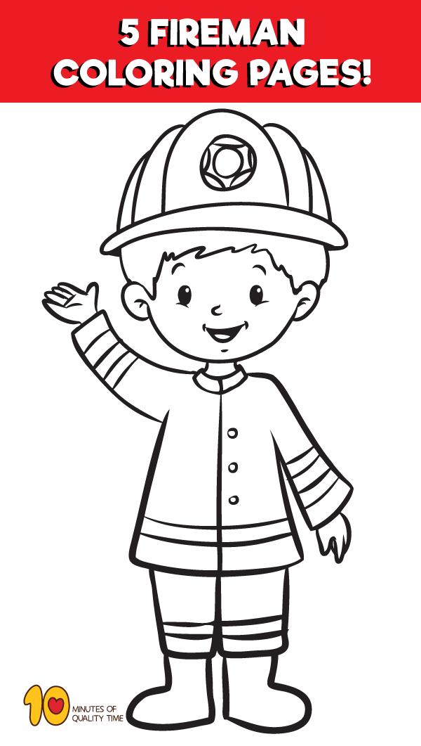 Fireman Coloring Pages Fireman Coloring Pages Fireman Crafts