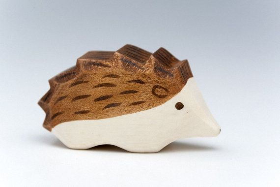 Wooden Hedgehogs Small  Waldorf Toys  Toy Nature  by didpanas