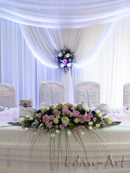 Zaktualizowano Stół Pary Młodej. Edan-Art Florystyka Dekoracje | ślub | Wedding FZ56