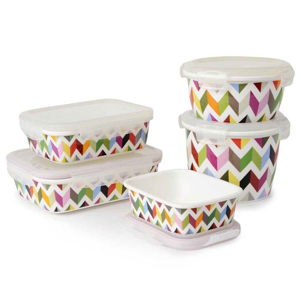 Ziggy Extra Big Round Porcelain Food Storage Container French Bull Storage Sets Food Storage Containers