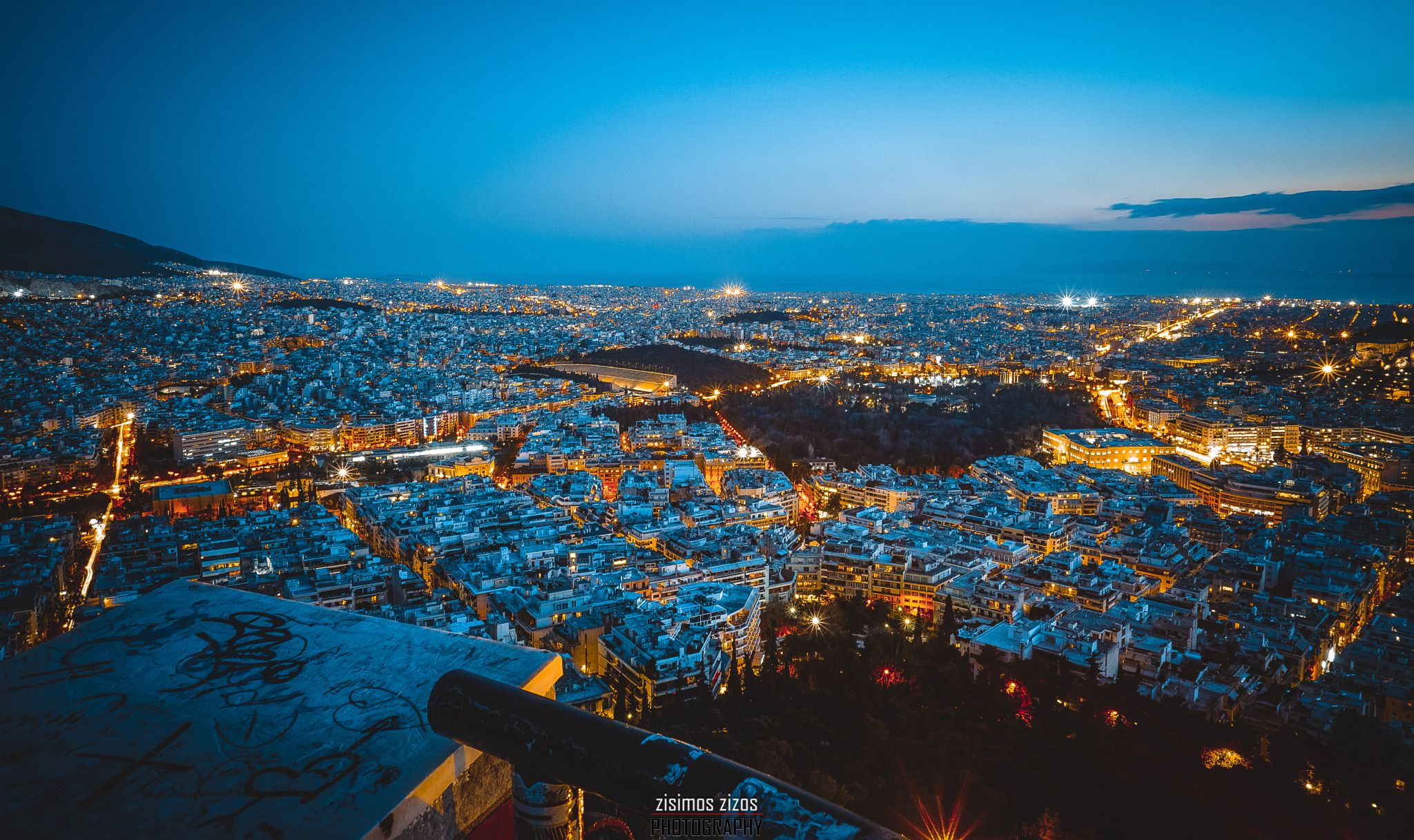 City of Athens - Night view from the City of Athens!
