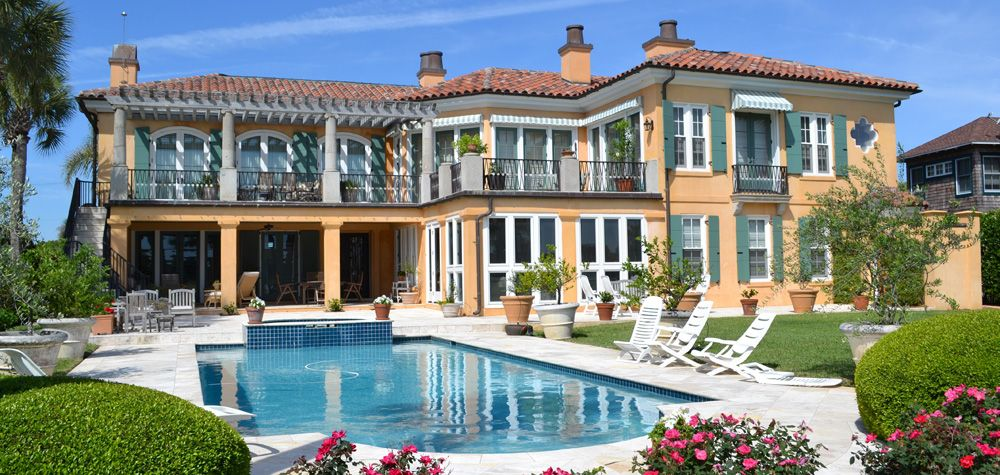 Ponte Vedra Beach Houses On The Jacksonville Florida Really I Have So Much Fun Walking By This House And Many Others Just As Magnificent