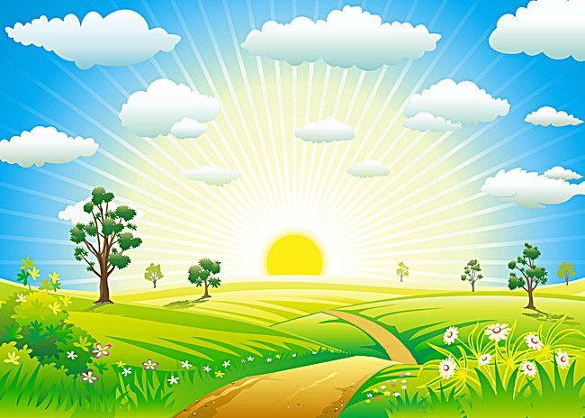 Art Design Summer Sun Background Nature Vector Wallpaper Backgrounds Vector Free