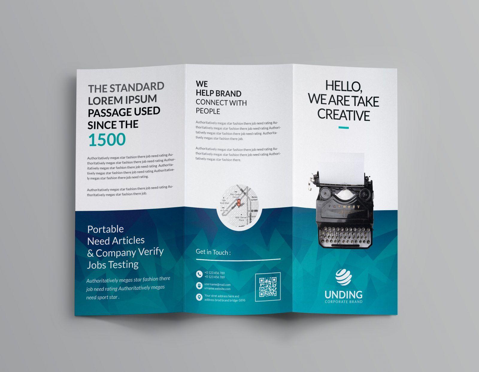 Ocean Corporate Tri Fold Brochure Template 001169 Template Catalog Trifold Brochure Template Brochure Template Brochure Template Psd