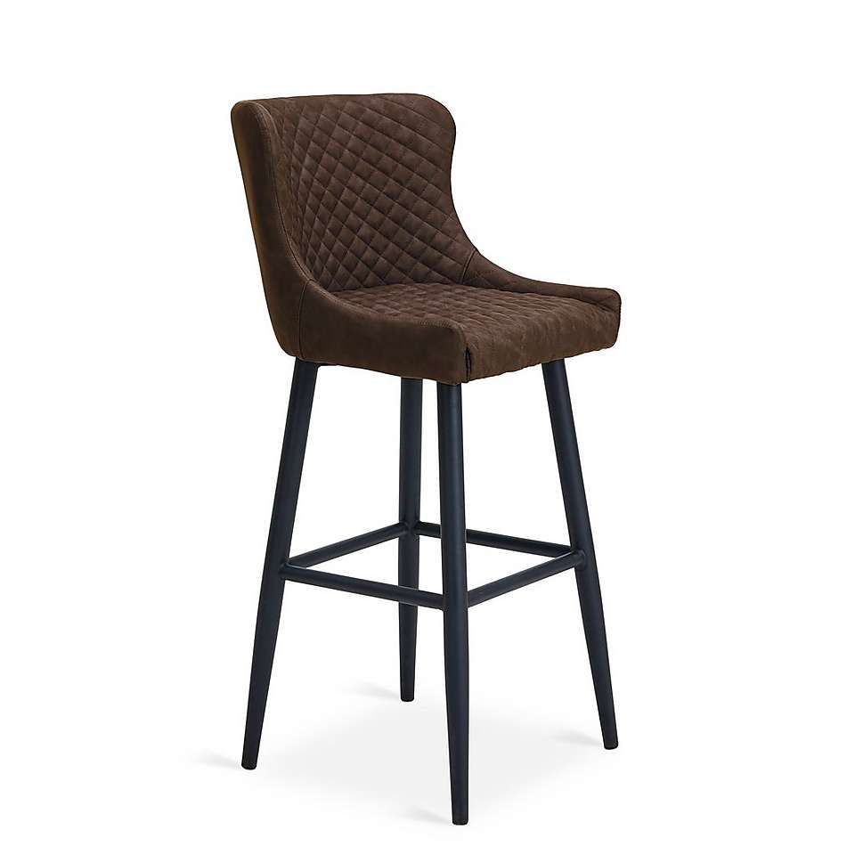 Montreal Pu Leather Bar Chair Brown Brown Leather Bar Stools