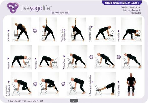 printable chair yoga poses with images  chair pose yoga