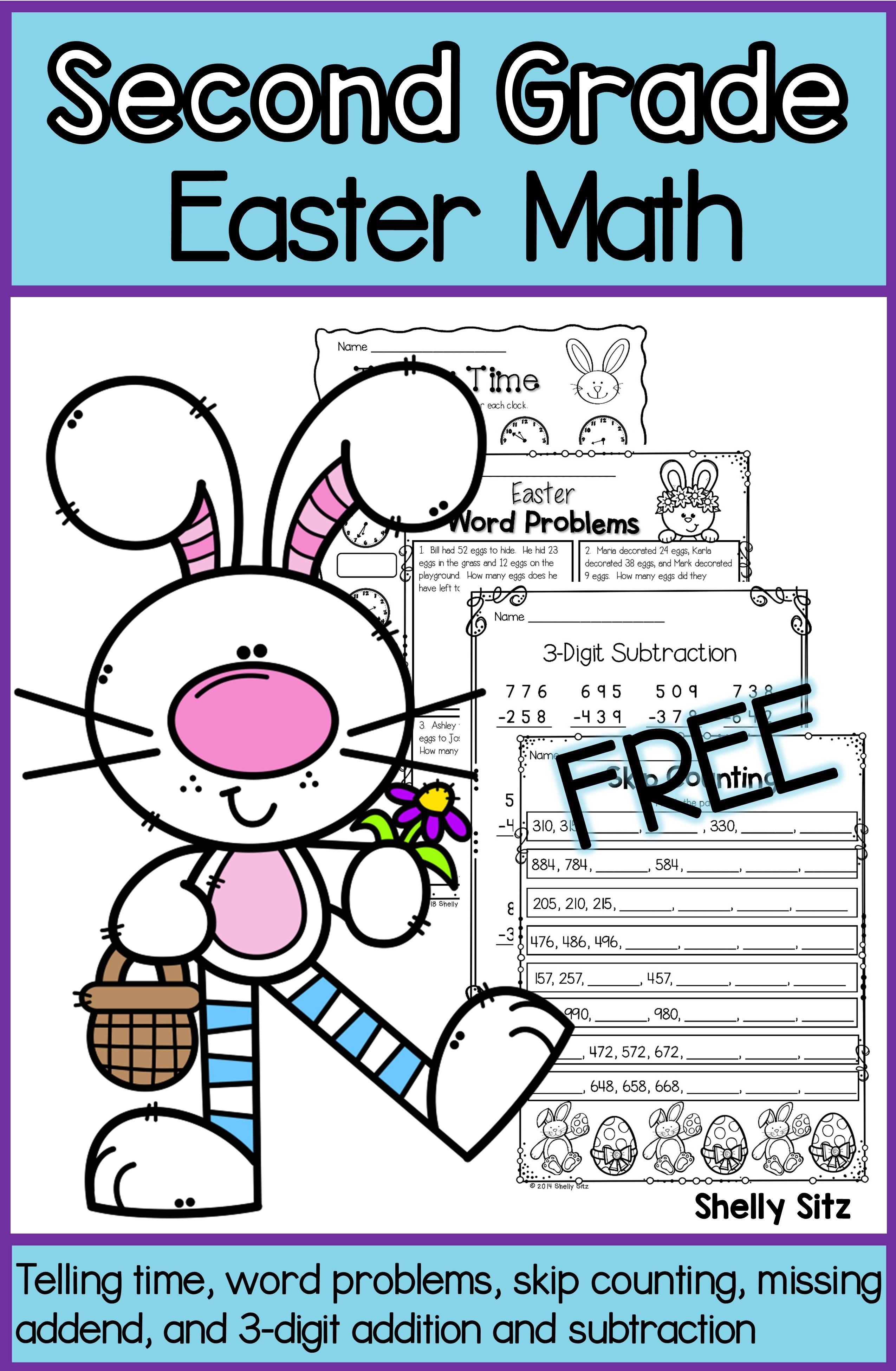 Easter Math Freebie Easter Math Math Freebie Second Grade Math [ 3900 x 2550 Pixel ]