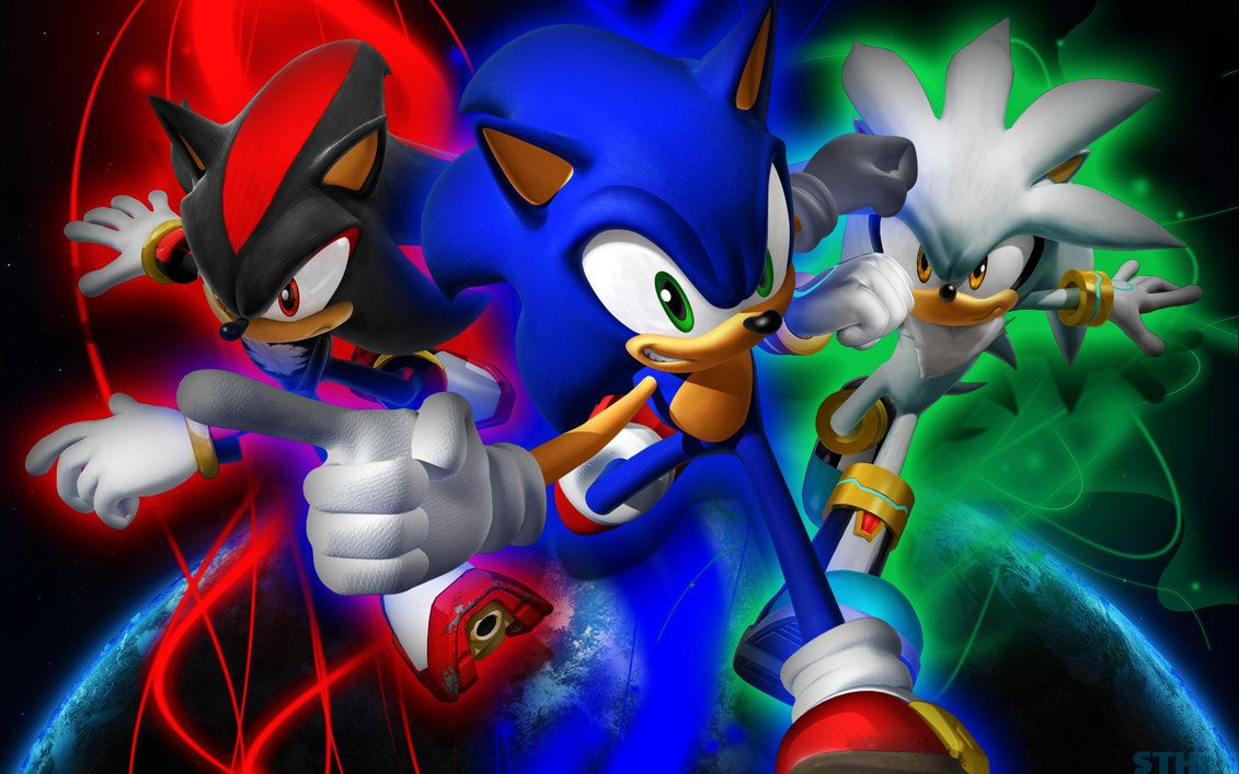 Sonic Shadow And Silver Wallpaper By Sonicthehedgehogbg On Deviantart Cartoon Wallpaper Sonic And Shadow Silver Wallpaper