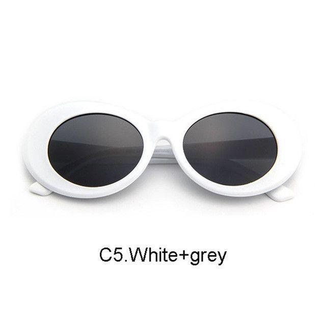 2509627435 Women Oval Sunglasses NIRVANA Kurt Cobain Sunglasses Men Vintage Retro  Female Male Sun Glasses