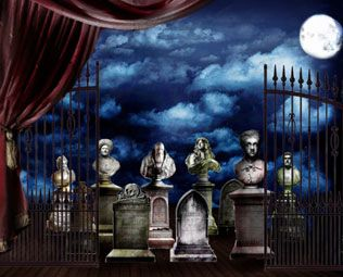 Graveyard Final Rendering Addams Family Musical Addams Family Musical Set Addams Family