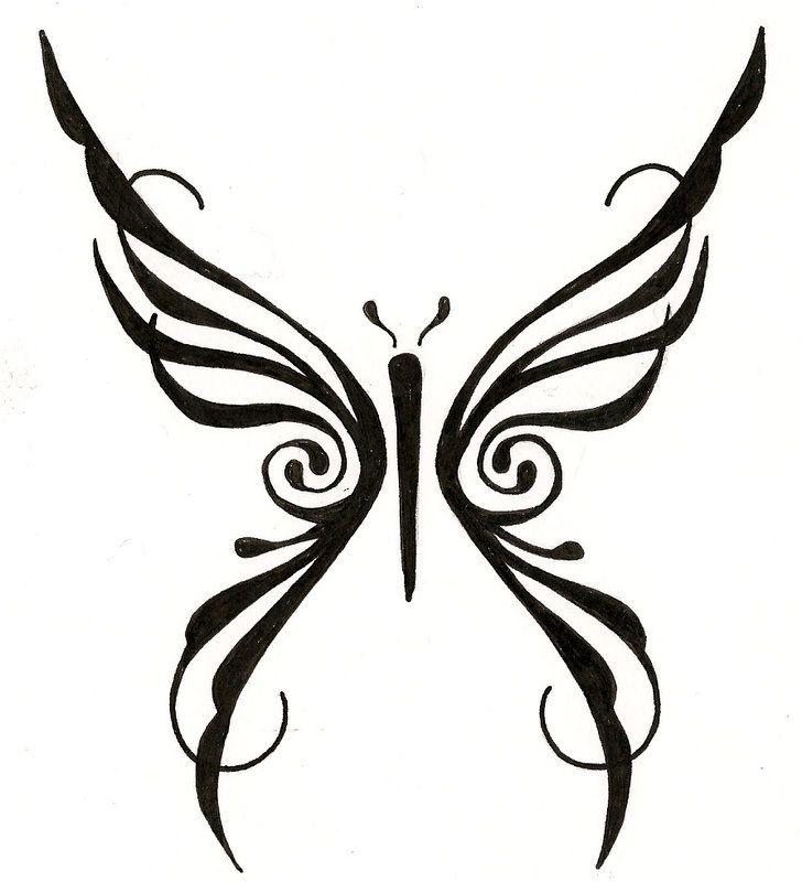 Photo of original design tribal butterfly tattoo. mailto:ginaleecin…