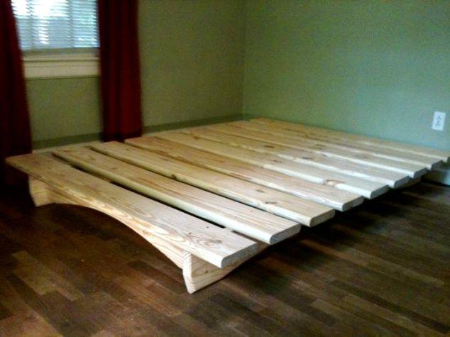 Queen Size Bed Frame Plans Diy Platform Bed Diy Bed Frame Wooden Platform Bed