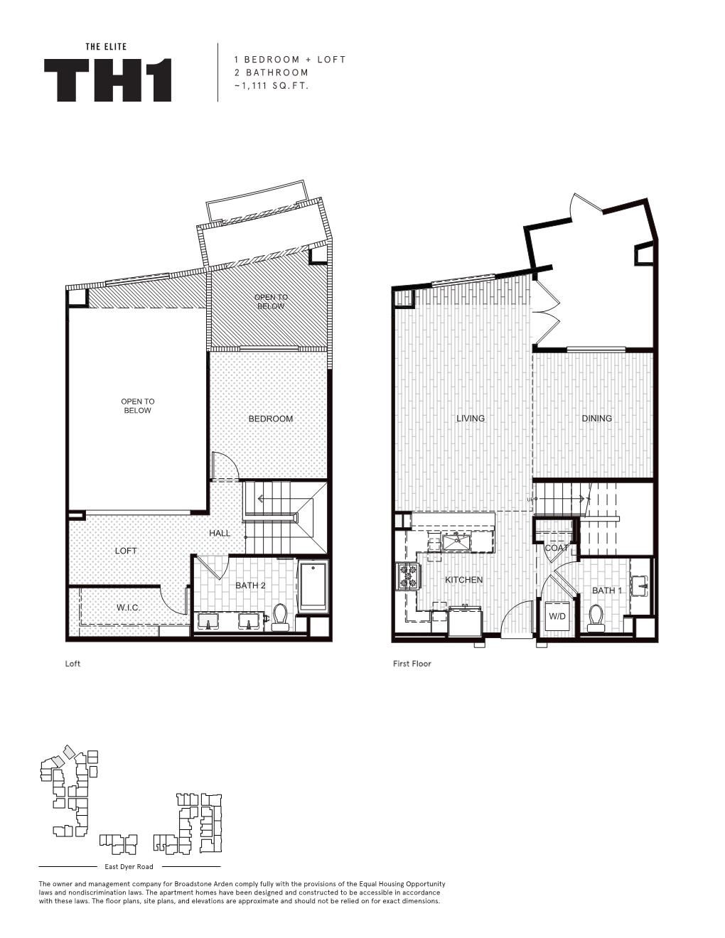 The Elite One Bedroom Loft Apartment Floor Plans Loft Apartment Apartment Floor Plan