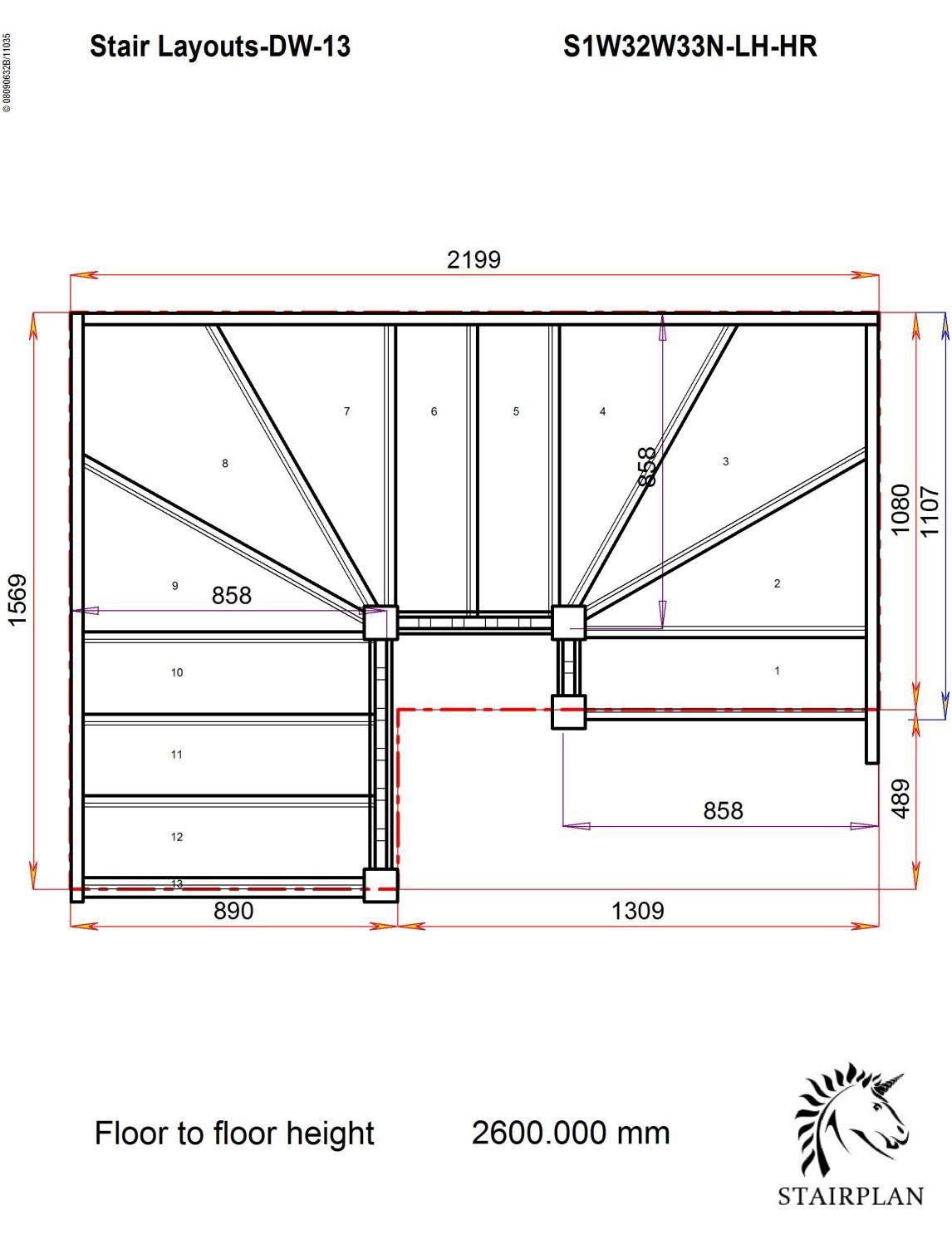 Best Tradestairs Lh Double Winder Hr Home Stairs Design 640 x 480