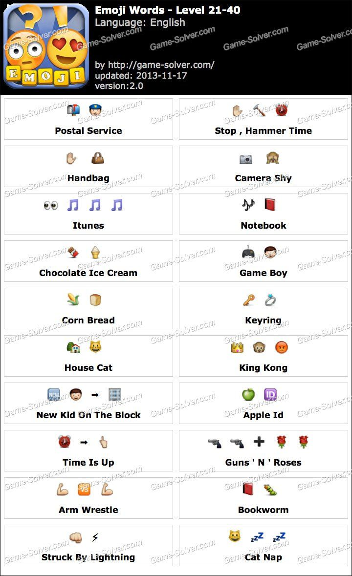 details for quality another chance Emoji Words Level 21-40   Emoji words, Emoji combinations, Emoji