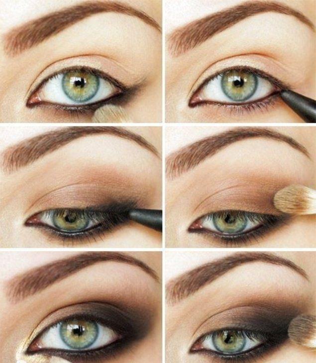 Dark Brown Makeup great step by step