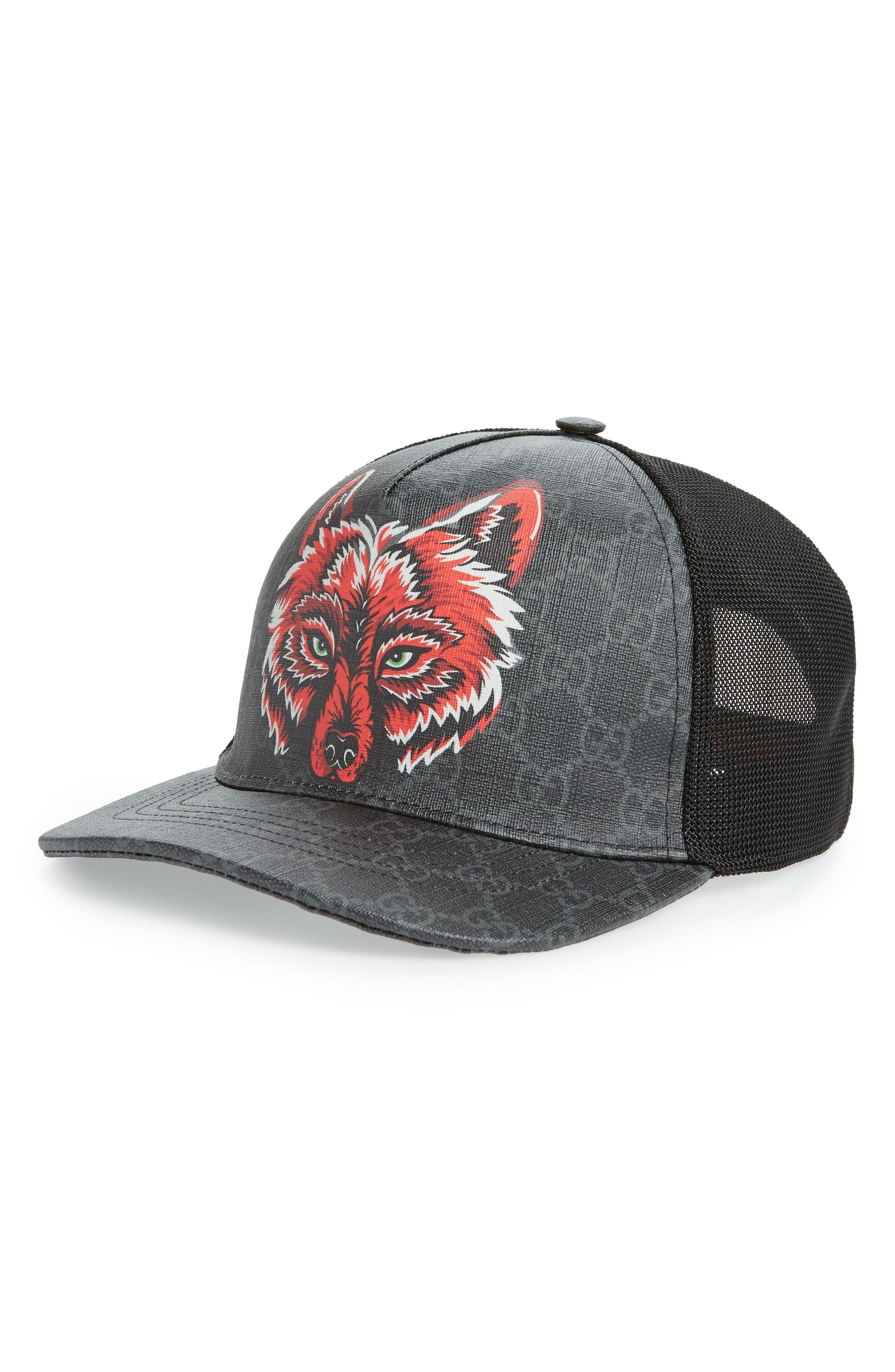 GUCCI GG SUPREME FOX HAT - BLACK.  gucci  7897dcd511a