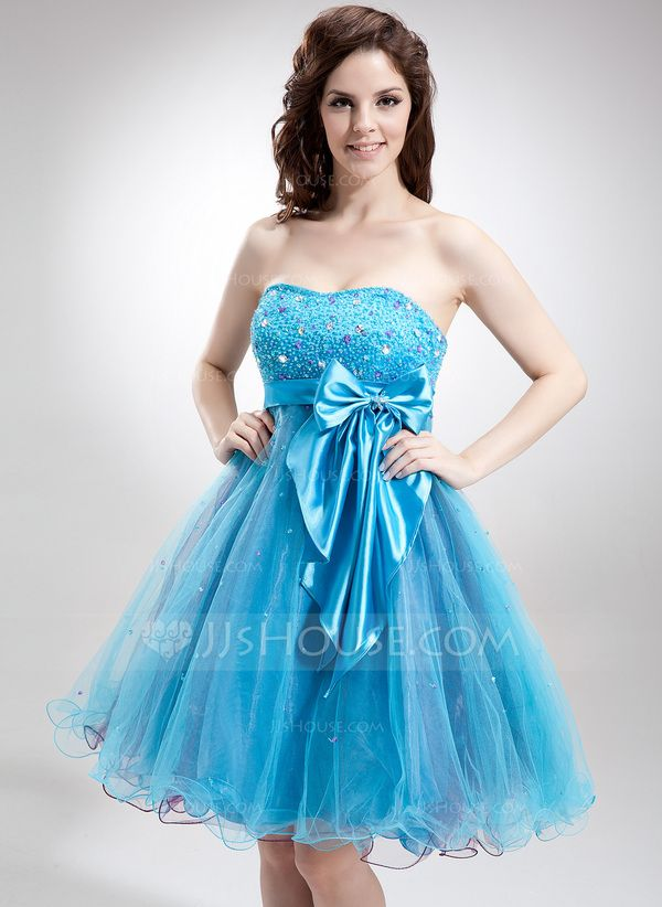 [US$ 129.00] Empire Sweetheart Knee-Length Tulle ...