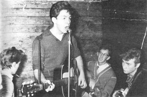 George Harrison, Paul McCartney, and John Lennon, late 1950s