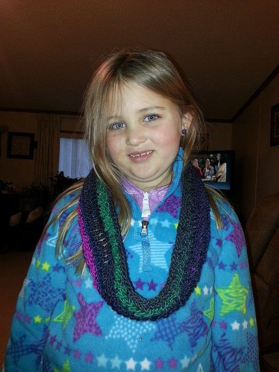 Multicolored hand crocheted cowl with by DJCrochetCreations, $15.00