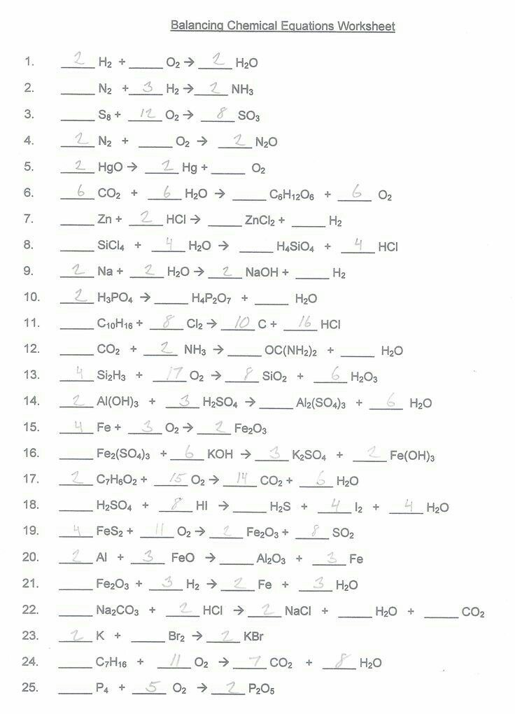 Pin By Gudima Maria On Science Chemistry Worksheets Balancing Equations Chemical Equation