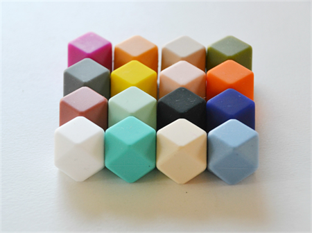 10xHexagon Silicone  Beads DIY Jewellery