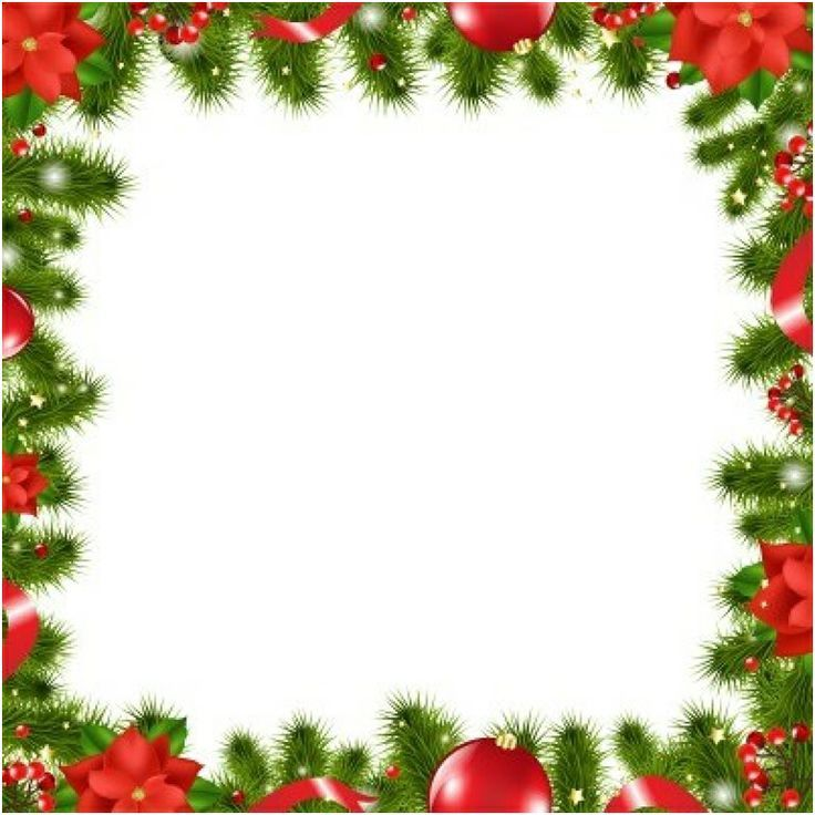 Christmas Border Decor Frames On Clip Art | Christmas printables ...