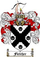 Fletcher Family Crest Fletcher Coat Of Arms Coat Of Arms Family Crest Family Shield