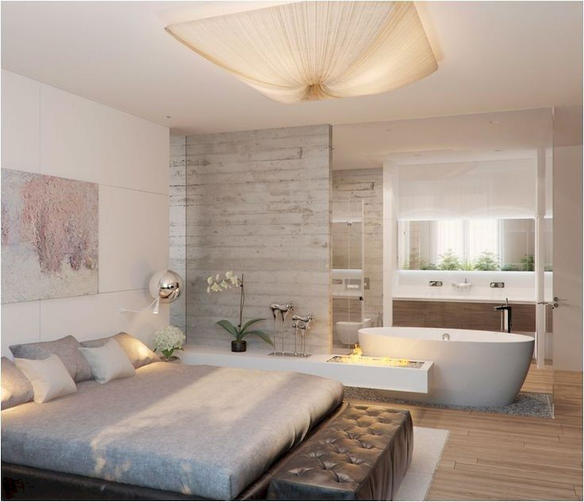 Gorgeous Awesome Fresh Master Bedroom Ideas For Your Home Master Bedroom Bathroom Bedroom With Bath Open Plan Bathrooms