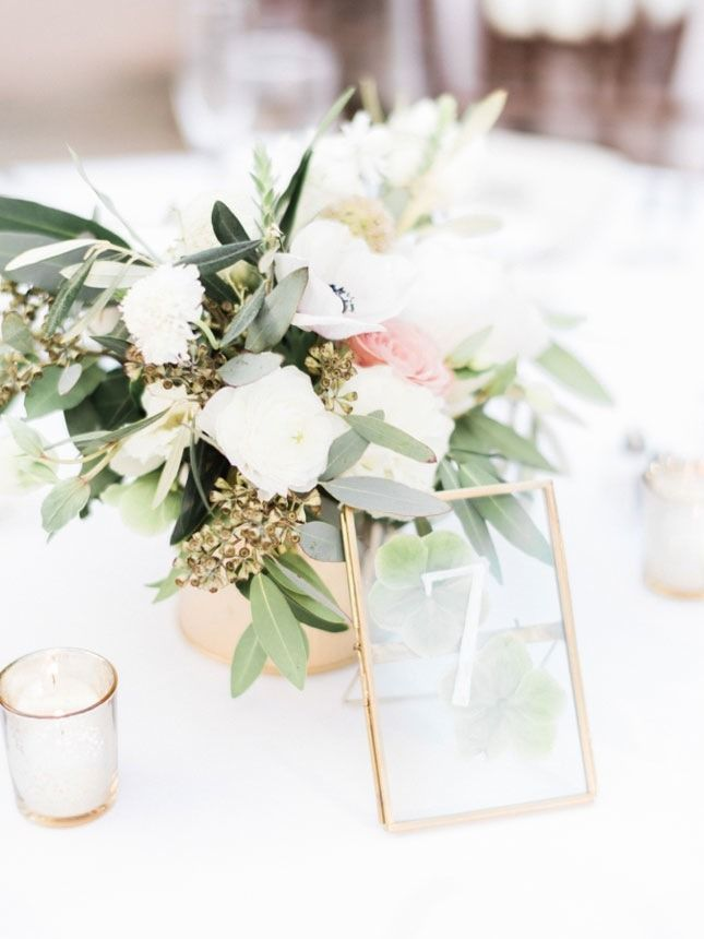Obsessed With These Glass Gold Picture Frames For Wedding Table