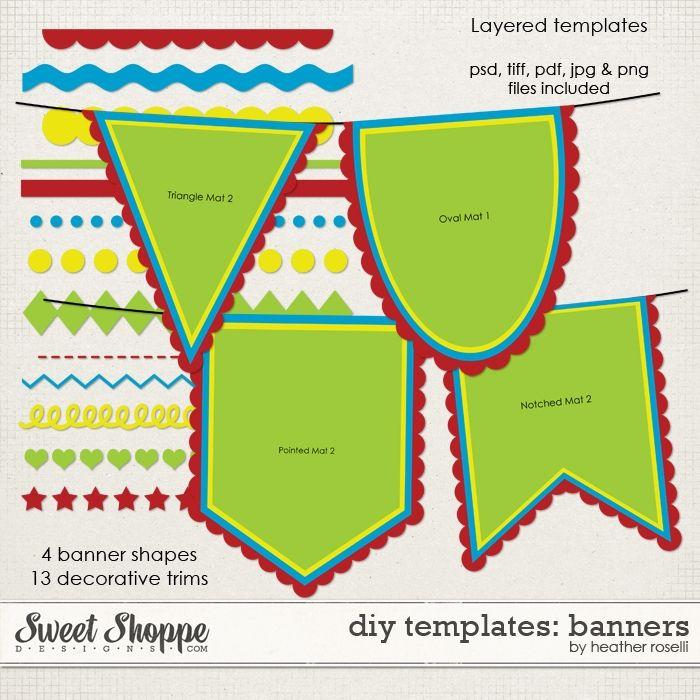 Diy Printable Banner Templates Diy Banner Template Printable Banner Template Pennant Banner Template